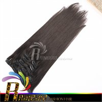 Wholesale 100 Indian Remy Human Hair Clip In Hair Extension total g g hair g clips fast