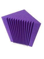 acoustic wall panels - 12 x x cm Purple Bass trap Acoustic Panel Foam For The Corner Wall Studio Room