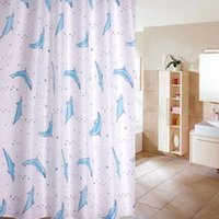animal shower curtains - New Cartoon Ocean Lovely Fish Animal Pattern Waterproof Bathroom Curtain Fabric Shower Curtain With Hooks x180cm