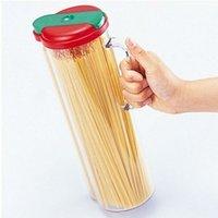 beverage dispenser jar - Red Auto Spaghetti Storage Container Pasta Dispenser Jar Canister Noodle Storage Box Jar Bottle Kitchen Fridge order lt no track