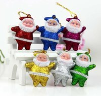 Wholesale EMS Christmas supplies decorative gift ornaments gold Santa Claus widgets Party Decorations
