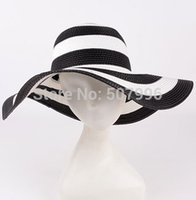Wholesale women summer flodable straw beach hat floppy sunbonnet hat colors D