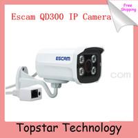 Wholesale 2014 Escam Brick QD300 Mini Camera HD720P IR Bullet H CMOS IP Camera mm Lens Onvif Night Vision P2P MP Security Camera