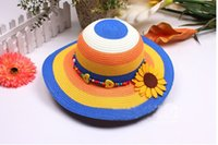 Wholesale Summer Princess cap Fashion sun hats beach hat sun straw hat kids girls sun hat HX