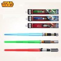 Wholesale Prettybaby Star Wars Lightsaber with light Sound Kids gift Darth Vader Sky walker Anakin Luke retractable swords toys Pt0130