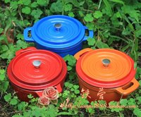 Wholesale color enamel mini pot