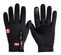 Wholesale 2015 Men winter Outdoor Sports riding mittens bike Full Finger Gloves Warm skid Cycling Gloves black size M L XL