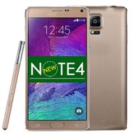 Wholesale Newest inch Note4 Note N9100 Android Quad Core GB ROM MP camera single SIM G S pen eye control wifi smart mobile cell phone