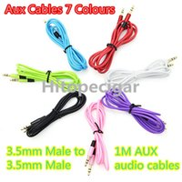 Wholesale Top Quality mm Aux Cables Male to Male M AUX audio cables Stereo Car Extension audio Cable for mp3 moblie phone colorful DHL Free