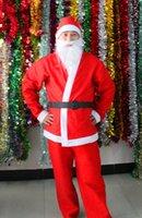 beard cosplay - 50 Christmas Outfits Man s Santa Claus Apparel Hat Clothes Pants Beard Belt Xmas Cosplay Wear Christmas Celebration Dress up Clothing