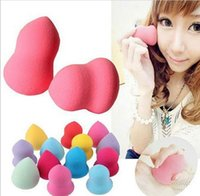 Wholesale 1000pcs Makeup Foundation Sponge Blender Blending Makeup Cosmetic Puff Flawless Powder Smooth Beauty Make Up Tool Drop DHL Shipping Free