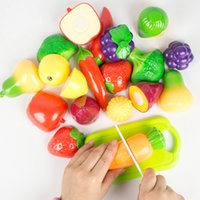 Wholesale Children play simulation of fruits and vegetables cut Qiele baby kitchen cutlery slice to see DIY puzzle toys