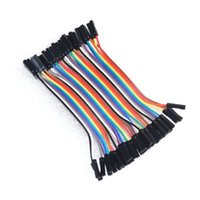 Wholesale 40pcs CM Pin Female to Female Dupont Cable Jumper Wires Ribbon Cable P P Female Female Dupont Line for Arduino Breadboard