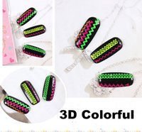 amazing beauty nails - 5pcs Mixed Colorful d Nail Art Stickers Decals Beauty Glitter Nail Art Decorations DIY Stamping Wraps Amazing Nail Art XF459