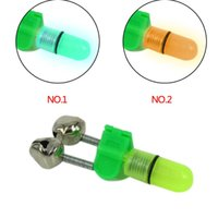 bait wells - Work well useful High quality Night Fishing Rod Tip LED Light Twin Bells Ring Fish Bait Alarm color