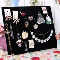Wholesale big size black velvet jewelry board for all kinds of treasure showing ring necklace earrings jewelry holder board