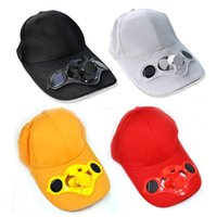 Wholesale Solar Power Hat Cap Cooling Cool Fan for golf Baseball