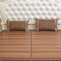 bamboo mattress - Foldable Bamboo Bed Mat Bamboo Mattress Pad for Double Bed Floor Mat Full Size Summer Folderable Rattan Mat for Sale LX1524