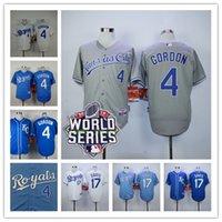 wade - Kansas City Royals Wade Davis Jersey Alex Gordon World Series Patch White Blue Baby Blue grey Mens Baseball Jerseys