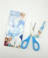 Wholesale 10pcs new frozen Cartoon scissors Aisha princess Anna Safety scissors Student scissors