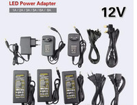 Wholesale DC LED Power Supply Charger Transformer Adapter A V V to V For RGB LED Strip EU US AU UK Plug