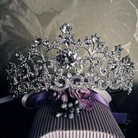 pageant crowns - Vintage Wedding Tiara Crowns Crystal Bridal Hair Jewelry Rhinestone Pageant Prom Headband Bridesmaid Wedding Hair Accessories