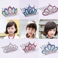 best baby things - best selling Baby Hair Accessories Crown Hair Combs Hair Things Kid Girls Hair Accessory Korean Princess Tiaras Childrens Accessories