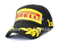 Wholesale Pirelli motorcycle fashion cotton black red F1 car racing fans running summer baseball sport sun hat cap