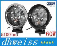 Wholesale 7 quot W CREE LED Work Light Bar LED W WD x4 Jeep Flood Spot Beam lm IP68 Truck Lamp KM Light