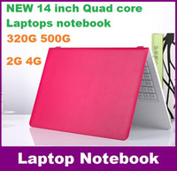 Wholesale 14 inch Duar core laptop GB GB Win win Itel Celeron N3050 GHZ N3150 Notebook Computer PC ultrabook X64 laptops DHL REEE