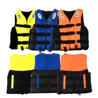 Wholesale Original Sport Survival S XXXL Swimming Polyester Floatation Foam May Life West Jacket Vest Whistle Foam Prevention Flood Device
