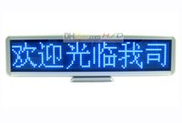 Wholesale 16 quot Scrolling LED Moving Sign Rechargeable Edit By PC Message Programmable Display Desk Board by dots Blue LEDs