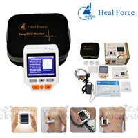 Wholesale Health Care Handheld ECG Heart Monitor Color Screen Portable Chest Limb Hand Electrocardiograph EKG with Lead Wire Electrode Pad Adaptor USB