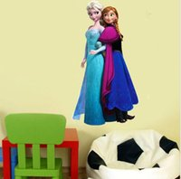 Wholesale Details about FROZEN Queen Elsa Anna Wall Stickers Decal Removable Kids Decor Room Mural Art
