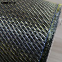 high tensile strength - 3K Carbon Fiber Fabric Twill Weave Gold g mm Thickness High Strength Anti tensile Real Carbon Fiber Yarn