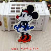 applique towel - Big size Minnie mouse Patches x16 cm towel embroidery patch Appliques Guaranteed Quality