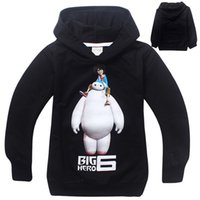 Wholesale 2015 Spring Fashion Children cloth Big Hero kids Sweater Baymax Hoodies long sleeve kids clothing outerwear Hoody best child gift