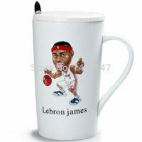basketball mugs - Lebron James cartoon cup Sport porcelain souvenir Basketball mug