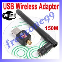 Wholesale 5pcs Mini M USB WiFi Wireless Adapter Network Networking Card n g b LAN with Antenna Computer Accessories FZ0435