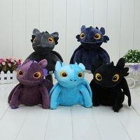 big plush products - EMS quot Colors How To Train Your Dragon Night Fury Thoothless plush Toys