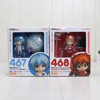 asuka langley figure - Nendoroid EVA Neon Genesis Evangelion Soryu Ayanami Rei Asuka Langley PVC Action Figure Collection Model Doll Toy
