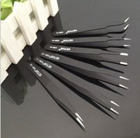 Wholesale Anti static Tweezers Switzerland VETUS Tweezers Precision hardened stainless steel tweezers multi piece set black set DHL