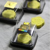 Wholesale Plastic Cake Box Single Individual Cake Boxes Golden Bottom Plastic Mooncake Pvc Boxes Food Gift Packaging cm