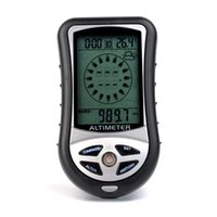 Wholesale Portable in1 Digital Compass Altimeter Barometer Thermometer Weather Forecast Time Calendar Backlight Altitude Meter for Outdoor Y4267A