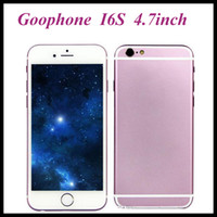 Wholesale Goophone I6S G WCDMA Dual Core MTK6572 I6S smart phone M RAM GB ROM Android also have i6s plus cellphone
