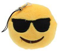 amused bag - Jimshop Hot Sale Cute Small Emoji Smiley Emoticon Amusing Key Chain Soft Toy Gift Pendant Bag Fast Shipping