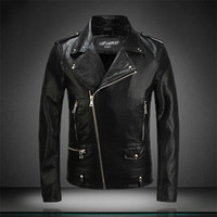 Cheap 2016 jackets leather harley Direct PU leather top machine wagon jacket influx of men leather jackets