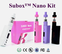 vape - Kanger Subox Nano Starter Kit with ML Subtank Nano vape Atomizer W Kbox nano black white pink purple in stock