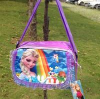 Wholesale 2014 Newest Frozen Girls Sets bags child Fashion Cartoon handbags kids shoulder lunch bags children gift schoolbag frozen purse gifts