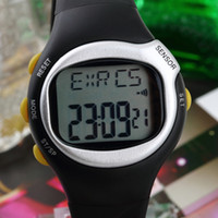 calorie counter watch - New Arrival digital LCD th Generation Pulse Heart Rate Monitor Calories Counter Fitness Watch Brand by DHL